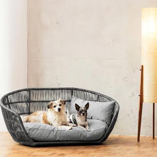 Design-Hundebett Indoor und Outdoor. Komfortabel gepolstert. Wasser- und schmutzabweisend.