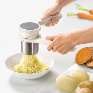 Kartoffelpresse Helix™ Die kraftsparende Kartoffelpresse: mit einzigartiger Drehmechanik (statt üblicher Hebel).