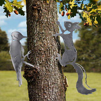 Kontur-Tiermotive Einst schlichter Stamm oder Holzpfosten. Jetzt Blickfang in Ihrem Garten.