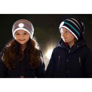 Twinkle Kid® Reflektor-Beanie Sicher und cool: die trendige Strick-Beanie mit taghellem Leuchteffekt.