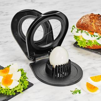 Gefu® Duo-Eierschneider Mit nur einem Gerät: Feine Eier-Scheiben oder dekorative Eier-Spalten.