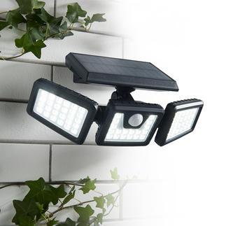 1.000-Lumen Solar-Sicherheitsleuchte Genial flexibel einstellbare Solarleuchte für mehr Sicherheit auf Gartenwegen, Treppenstufen, Hausaufgängen, ...