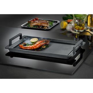 Teppanyaki-Platte Genial vielseitig: die Teppanyaki-Platte für alle Herdarten. Und für den Grill im Backofen.
