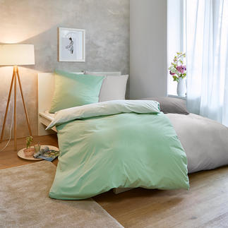 Sommer-Bettwäsche, 135 x 200 cm Nur ein Hauch auf der Haut: sommerleichte, bi-color Wendebettwäsche aus reiner Baumwolle.