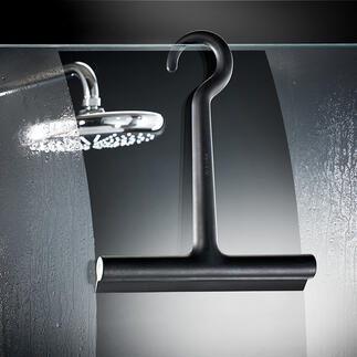 Design-Silikon-Duschabzieher Der silikonummantelte Duschabzieher. Soft. Schwarz. Stylish. Aus dem dänischen Designhaus Eva Solo.
