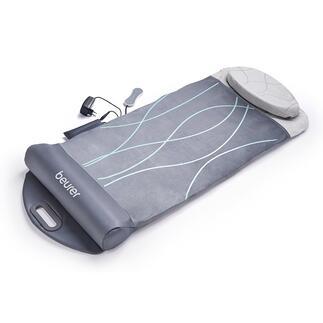 BeurerStretching- und Massagematte Vom Yoga inspiriert: Sanftes Rücken-Stretching mittels Luftdruck. Massage-Matte mit 7 Luftkammern, zuschaltbarer Vibration und Wärme. Von Beurer.