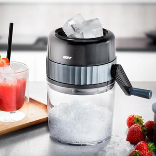 Gefu®Kurbel-IceCrusher Frisch geraspeltes Crushed Ice – einfach und schnell wie nie. Ohne Strom, ohne Aufwand. Überall.
