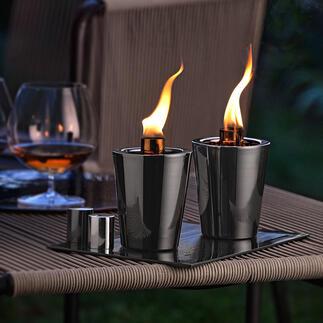 Tischfackel, 2er-Set Romantische Lagerfeuer-Atmosphäre: Tischfackeln mit der Magie offenen Feuers. Ein urgemütlicher Blickfang zu jeder Jahreszeit.
