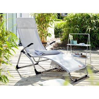 Fiam klappbare Sitzliege Italienisches Design mit Vario-Komfort. Herrlich bequem, federleicht und unkompliziert. Perfekt für Terrasse, Garten, Pool, ...