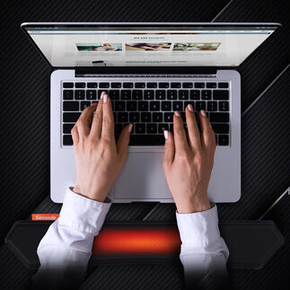 Beheizbare Handgelenksstütze Die bessere Handgelenkauflage bietet ergonomische Stütze und entspannende Wärme. Für Tastatur- oder Maus-Nutzer.