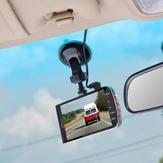 Dashcam mit Assistenzsystem Die bessere Car-Cam: Full HD-Videokamera und 3fach-Assistenzsystem zugleich.