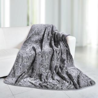 Relief-Decke Selten schön. Selten fein, langflorig und federleicht. Mit edlem Hoch/Tief-Relief.