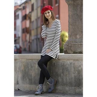 Die Bretagne-Tunika von Saint James/Frankreich. Viel femininer als das Bretagne-Shirt. Fischer-Tradition seit 1889 mit festem Platz unter den Fashion-Favoriten. Bequem und kaschierend geschnitten.