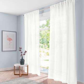 Vorhang Paloma - 1 Stück Trendige Palmblätter, plastisch wie gestickt.
