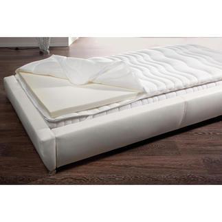 Visco-Matratzenauflage Sie genießen wohltuende Druckentlastung. Und schützen Ihre teure Matratze vor Verschmutzung, Keim- und Milbenbefall.