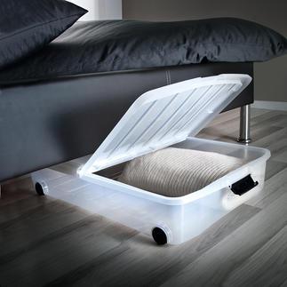 Unterbettbox mit Klappdeckel, 2er-Set Unter Ihrem Bett ist soviel Platz. Nutzen Sie endlich bisher verschenkten Raum.