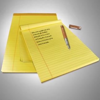 Original U.S. Legal Pads, 9 Blocks à 100 Blatt Mindestens 4 Vorteile. Und doch so schwer zu finden.
