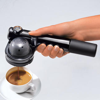 Handpresso PUMP Mitten im Wald, auf hoher See, auf der Piste, ... Ihre Espressomaschine ist bereit.