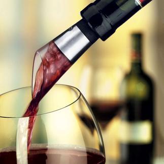 Venturi Dekantierausgießer Sie belüften nur so viel Wein, wie Sie auch trinken.