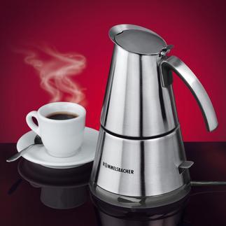 Design-Espressokocher Jetzt in modernem Edelstahl-Design. Für 2 und 4 Tassen.