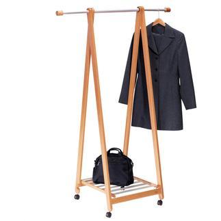 Stand-by-Garderobe mit Ablage Stark & breit genug, um leicht 15 schwere Lederjacken oder Mäntel zu tragen. Mit praktischer Ablage und Rollen.