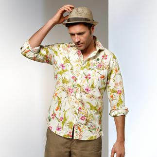Robert Friedman Hawaii-Hemd Hawaii-Hemd heute: Dosierter Print. Heller Fond. Harmonische Farben. Von Robert Friedman.