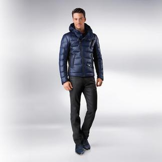 Versace Collection Coating-Jeans Neuer, cooler Akzent: Das glänzende Coating der schwarzen Jeans.