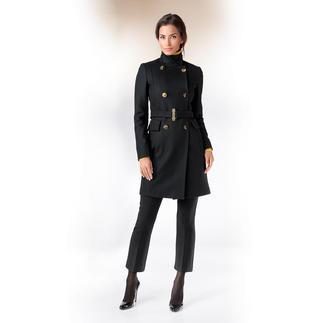 Versace Collection Zweireiher-Wollmantel Wollmantel, Zweireiher, Schwarz, Gold: Aktuelle Fashion-Trends sind der Signature Look der Versace Collection.