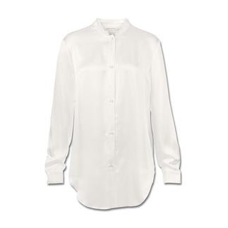 Pierre Balmain Silksatin-Bluse Clean und puristisch: Die weiße Bluse in ihrer modischsten Form.