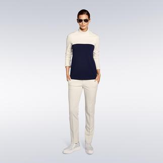 """Strenesse Stehkragen-Shirt oder Slim-Pants """"Punto Milano"""" Ein elegantes Outfit bequem wie Homewear. Im angesagten Clean-Chic schon immer die Spezialität von Strenesse."""