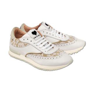 Twin-Set Budapester-Sneaker Spitze und Budapester-Lochung plus Laufschuh-Form: Twin-Set macht den Trend-Sneaker.