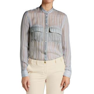 Cacharel Streifen-Hemdbluse Cacharel macht die Hemdbluse zum eleganten Trend-Basic.