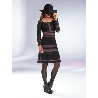 M Missoni Multi-Trend-Kleid Folklore, Streifen, Meshgewebe, Rosé-Ton, Lurex-Glanz: 5 Trends, meisterhaft umgesetzt in Strick.