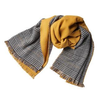 Twin-Set Doubleface-Schal, Curry Fashion-Update für Ihre Jacken und Mäntel: Der Doubleface-Schal von Twin-Set.