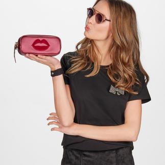 Pinko Basic-Shirt mit Brosche Sports Couture-Trend: in elegantem Schwarz, aus feinem Cotton-Jersey und mit edler Schmuck-Brosche.