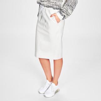 Pinko White Skirt Semipelle Weiß. Wertig. Waschbar: trendgerechter Leder-Look par excellence. Von Pinko.