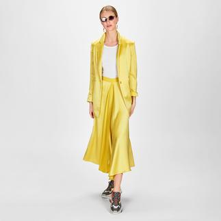 Smarteez Lingerie-Rock oder -Blazer Fließender Satin. Edles Zitronen-Gelb: Smarteez macht den trendigen Rock/Blazer-2-Teiler zum glamourösen High-Fashion-Look.
