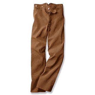 Tragen Sie die Ur-Jeans, die Geschichte schrieb. Die legendäre Goldgräber-Jeans. Entdeckt im Kalifornien der Vergangenheit. Diese Ur-Jeans waren nicht blau - sondern in unepfindlichen Braun.