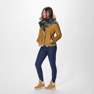 Balatt Couture-Lammfelljacke Leder-Trend de luxe: die wendbare Couture-Lammfelljacke - kunstvoll koloriert im angesagten Fancy-Stil der 80er-Jahre. Von Balatt.