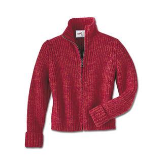 Aufwändig handverarbeitete Jacke aus 10-fädigem Kaschmir – vom englischen Hoflieferanten Corgi. Schon 2-fädiges Kaschmir ist eine Besonderheit. Diese ist auch in den obersten Geschäften kaum zu finden.