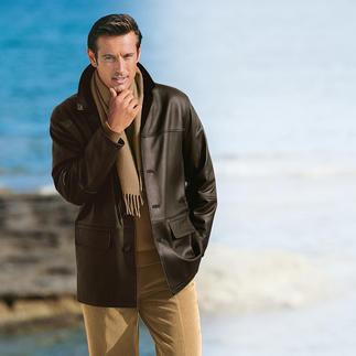 Die zeitlos schöne Jacke aus seltenem Elchleder. Ein butterweiches Unikat.