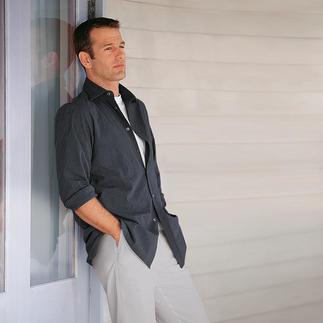 Das Seersucker-Hemd in feinster Shirtmaker-Qualität. Von Derek Rose of London. Bügelfrei. Seersucker: Der kühle, atmende Stoff, der weniger knittert.