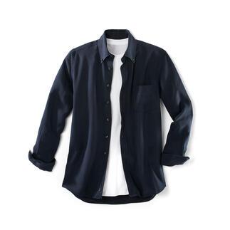 Das Hemd aus Tencel®-Denim: perfekt an heißen und an kalten Tagen. Viel weicher als Denim. Viel lässiger als eingewöhnliches Oberhemd.