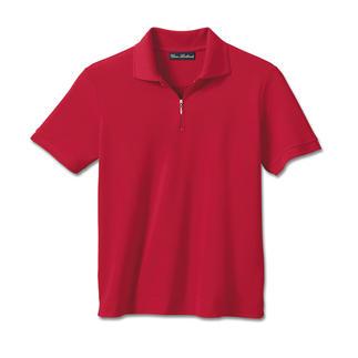 Das Polo aus Coolmax®-Hightech-Faser: Pillt nie. Läuft nicht ein. Behält die Farbe. Und kühlt und trocknet doppelt so schnell wie ein Baumwoll-Polo.