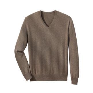 Die Pullover aus erstklassigem, rarem 3-Ply-Kaschmir aus der Inneren Mongolei. Zeitlos und in klassisch dezenten Farben.