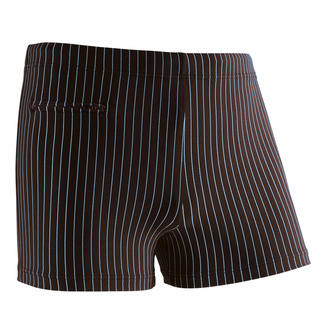 Die Schwimm-Pants, in denen sich ein Gentleman wohlfühlt. Das elastische Material plustert sich im Wasser nicht auf und bietet so beim Schwimmen weniger Widerstand.
