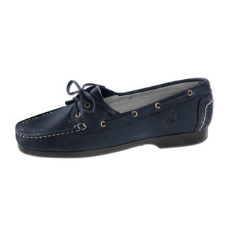 Der Arcus® Nubuk- Mokassin mit Latexsohle. Bequemer geht's fast nicht. Der perfekte Schuh für lange Sightseeing-Trips, ausgedehnte Shopping-Bummel und anstrengende Messe-Tage.