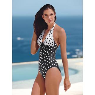 Riviera-Tupfenbadeanzug Perfekt am Strand, an der Pool-Bar, auf der Promenade, beim After-Sun-Shopping...