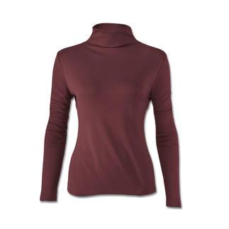 Das perfekte Shirt unter schlanken Blazern und Jacken. Aus Seide, Tencel® und Wolle. Das Material macht es weich, edel glänzend und anschmiegsam. Passt aber unter körpernahe Kleidung.