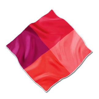 Das handrollierte Einstecktuch aus feinem Seidentwill: Geschmeidig und standfest. Besonders farbbrillant. Uni Weiß und abwechslungsreich 4-farbig Blau und Rot.